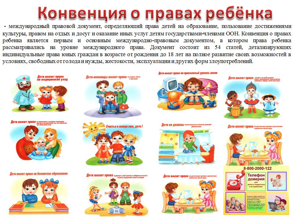 Защита прав ребенка информация